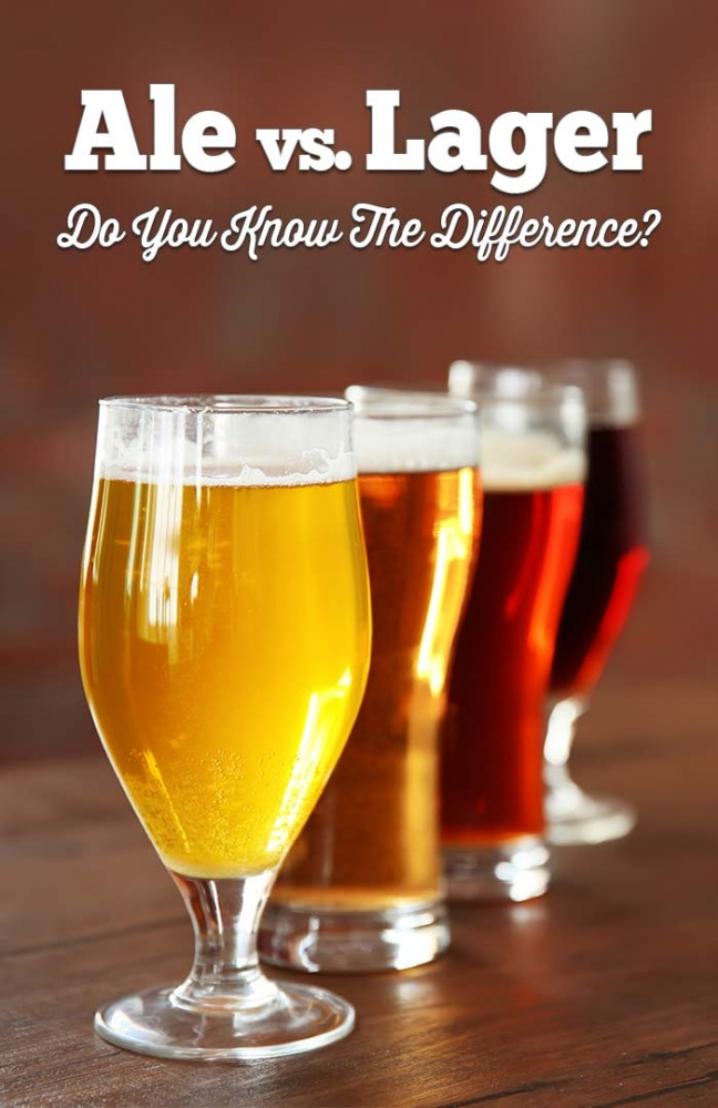What's the difference between lagers and ales?