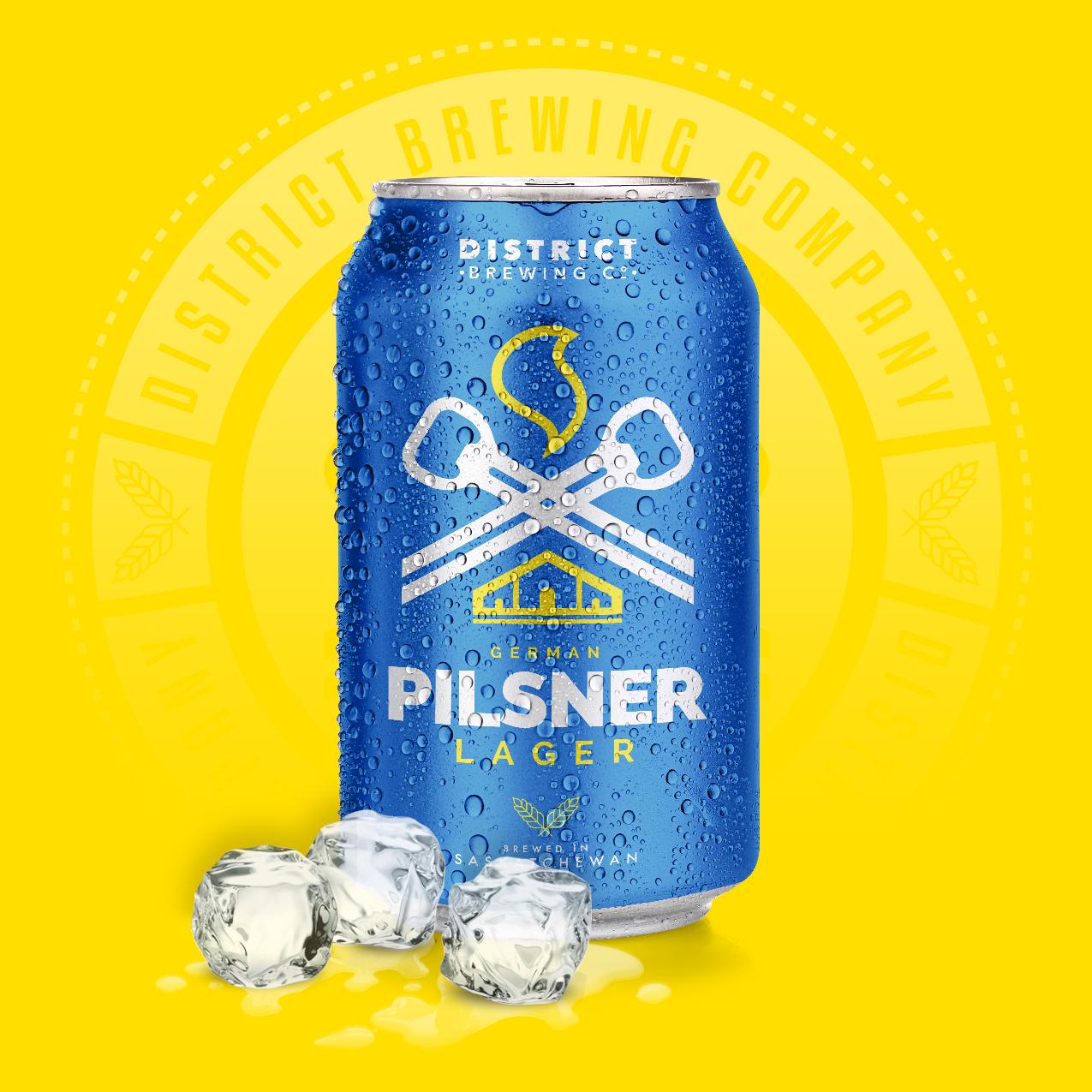 German Pilsner Distrcit Brewing Company Craft Beer