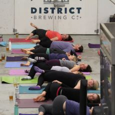 Yoga + Beer Night @ District