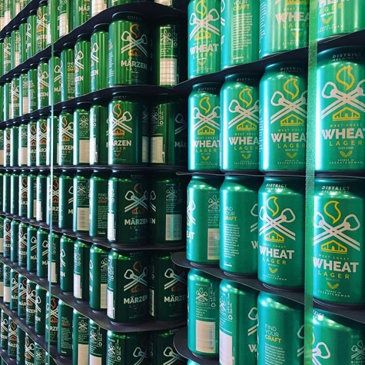 Our new beer cans have finally arrived in #yqr. #beer🍻 #findyourcraft #craftbeer