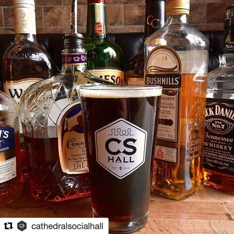 Our Whiskey Barrel Aged Dunkel Seasonal is now available at Cathederal Social Hall. Get it before it's gone!!! #findyourcraft #BrewedinSask #saskcraft