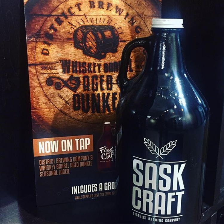 Hey Saskatoon! It's your turn to try the Whiskey Barrel-Aged Dunkel! Fill up a Growler Before it's Gone! Available only at the 8th St Liquor Store.  #yxe #findyourcraft #craftbeer #local
