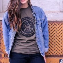 There are so many options for him and her when it comes to District gear. Come by and grab a pint and a tee or check out our website.  #FindYourCraft #shoplocal #drinklocal #beergear #brewedinsaskatchewan #exploresask #saskatchewan #YQR