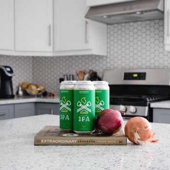 Cooking w/ a little IPA 🍺 on a Monday  About our IPA | Refreshing lighter version of a British IPA. The ample malt backbone is fortified with biscuit and light caramel malt. Hopped generously for a bright balanced profile of herbal green tea, orange bl