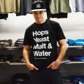 Hops Yeast Malt & Water T-shirt - Black