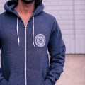 Wheelie Zip-up Hoodie - Dark Heather Grey